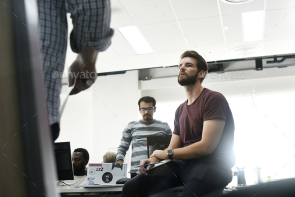 Startup Business Team Brainstorming on  Meeting Workshop - Stock Photo - Images