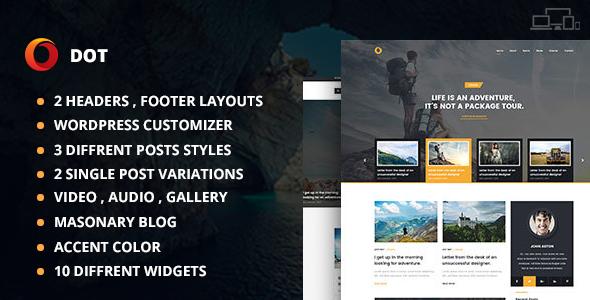 Dot Blog Pro - Creative Blog WordPress Theme