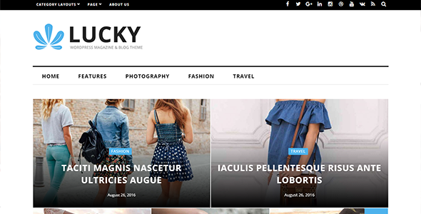 Lucky - WordPress Magazine and Blog Theme - News / Editorial Blog / Magazine