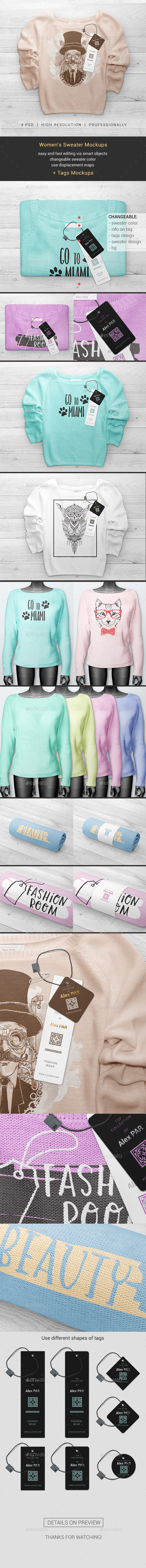 Women's Sweater Mockups - Miscellaneous Apparel