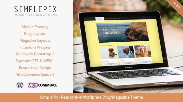 SimplePix - Responsive WordPress Blog Magazine Theme