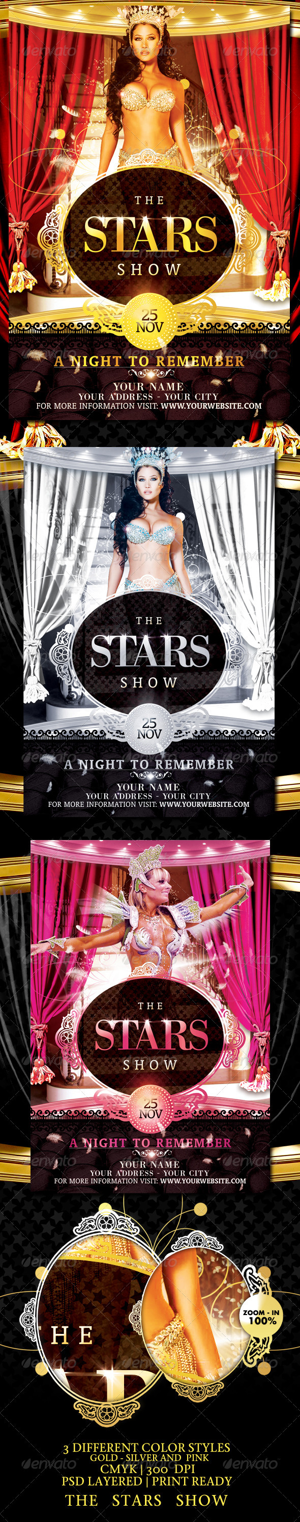 book signing poster template - the stars show flyer template by touringxx graphicriver