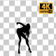 Sexy Woman Dancing Silhouette-4 - VideoHive Item for Sale