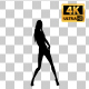Sexy Woman Dancing Silhouette-5 - VideoHive Item for Sale