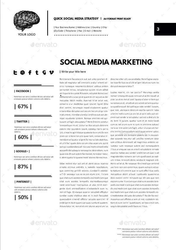 Social Media Strategy Digital Template by Keboto | GraphicRiver