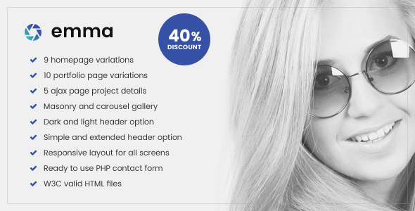 Emma – Responsive Photography & Multipurpose Website Template