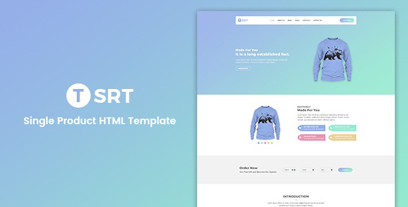 Tsrt – Single Product eCommerce Template