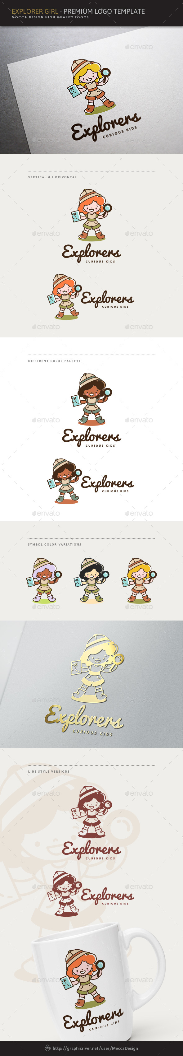 Explorers - Explorer Girl Logo - Humans Logo Templates