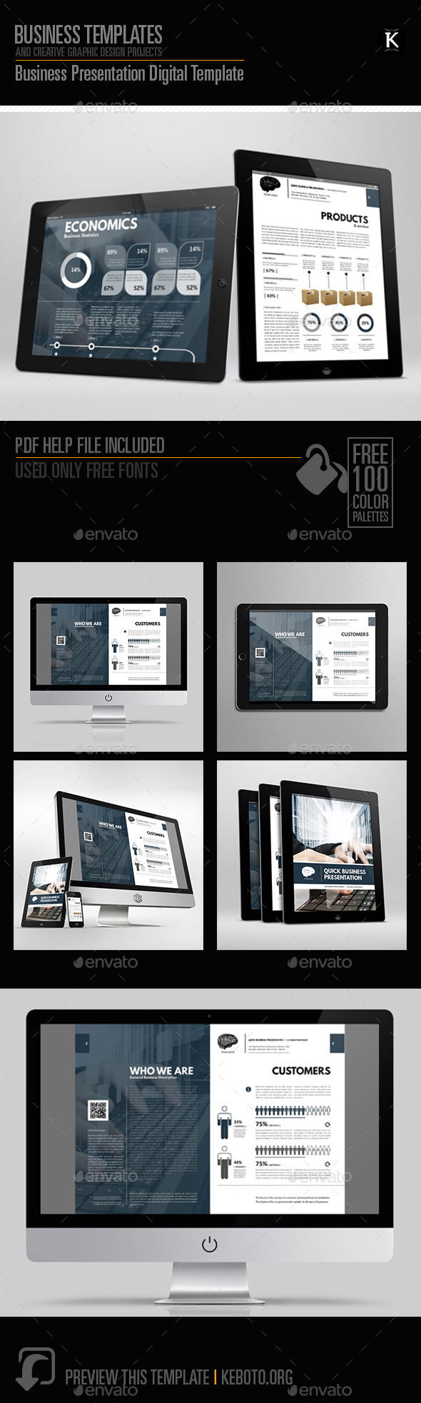 Business Presentation Digital Template - ePublishing