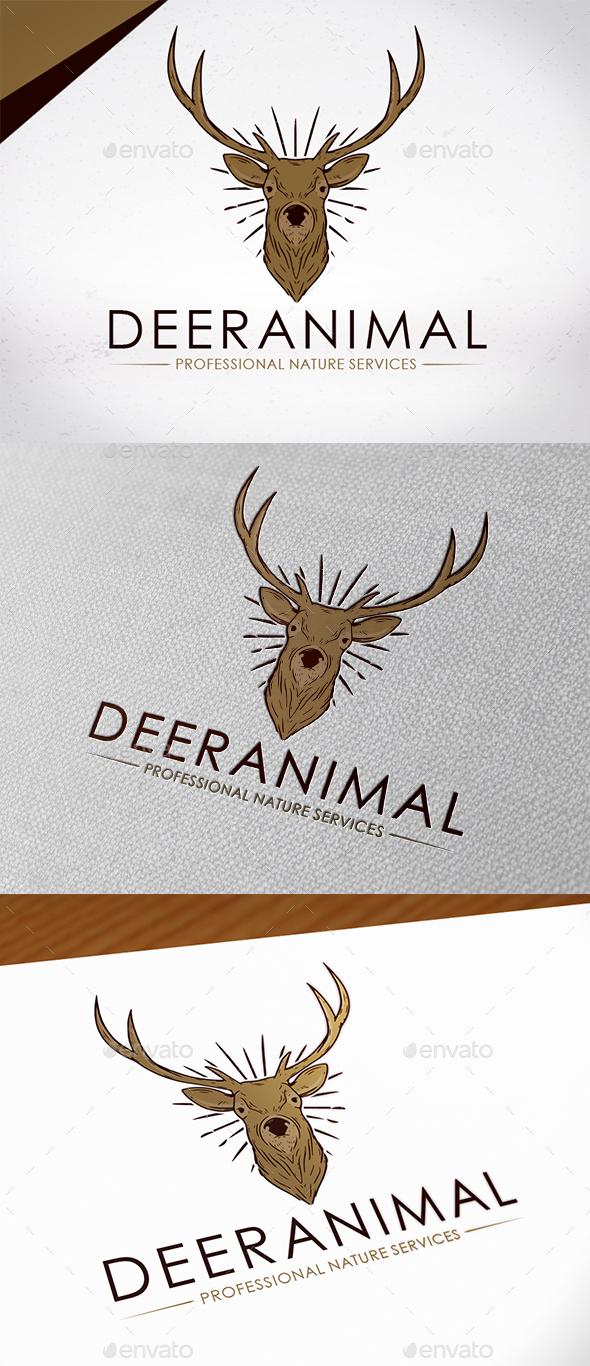 Deer Animal Logo Template - Animals Logo Templates