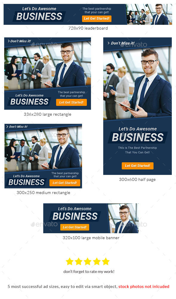 Corporate Web Banner Design Template 71 - Lite - Banners & Ads Web Elements