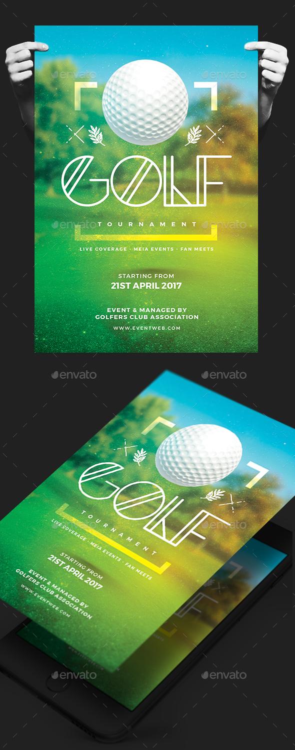 Golf Tournament Flyer - Events Flyers