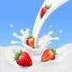 Strawberry and Milk, Realistic Yogurt Splashing - GraphicRiver Item for Sale