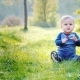 A Little Cool Boy Sits on a Green Meadow - VideoHive Item for Sale