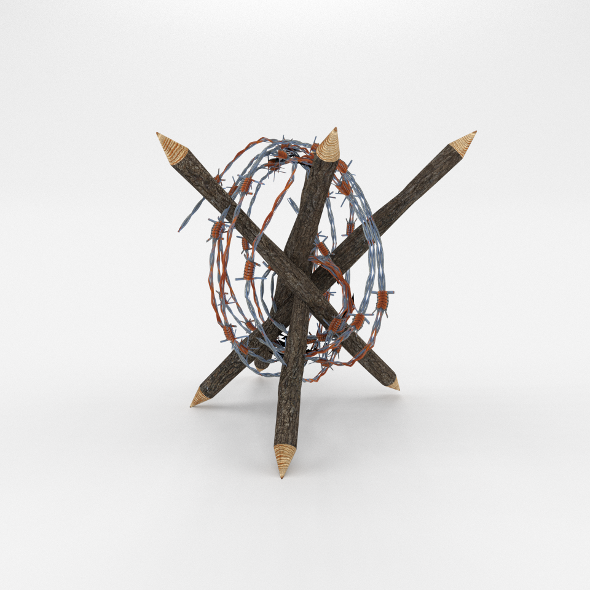 Lowpoly Barb Wire Obstacle 5 - 3DOcean Item for Sale