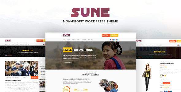 SUNE – Non-Profit WordPress Theme