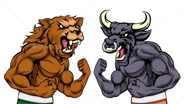 Bears Versus Bulls Stock Market Concept - Concepts Business