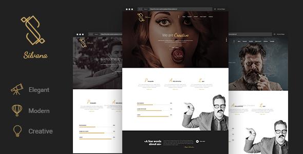 Silvana – Creative Onepage HTML Template
