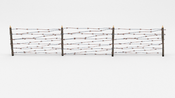 Lowpoly Barb Wire Obstacle 7 - 3DOcean Item for Sale