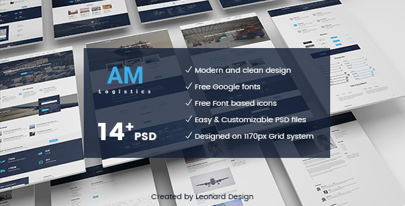 Amlogistic | Transportation & Logistics PSD Template - Business Corporate