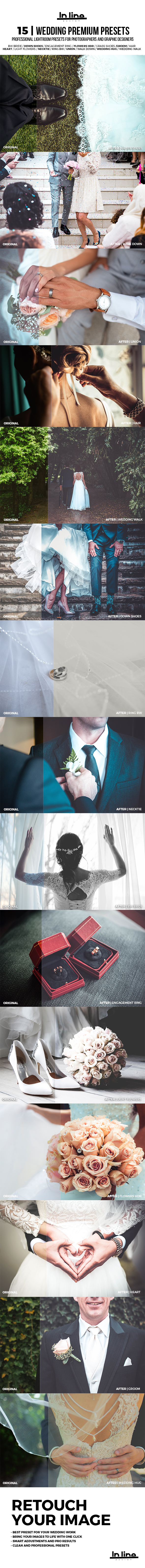 15 Premium Wedding Lightroom Presets - Wedding Lightroom Presets