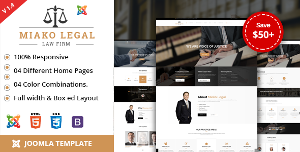 Miako Legal | Law Firm Joomla Template