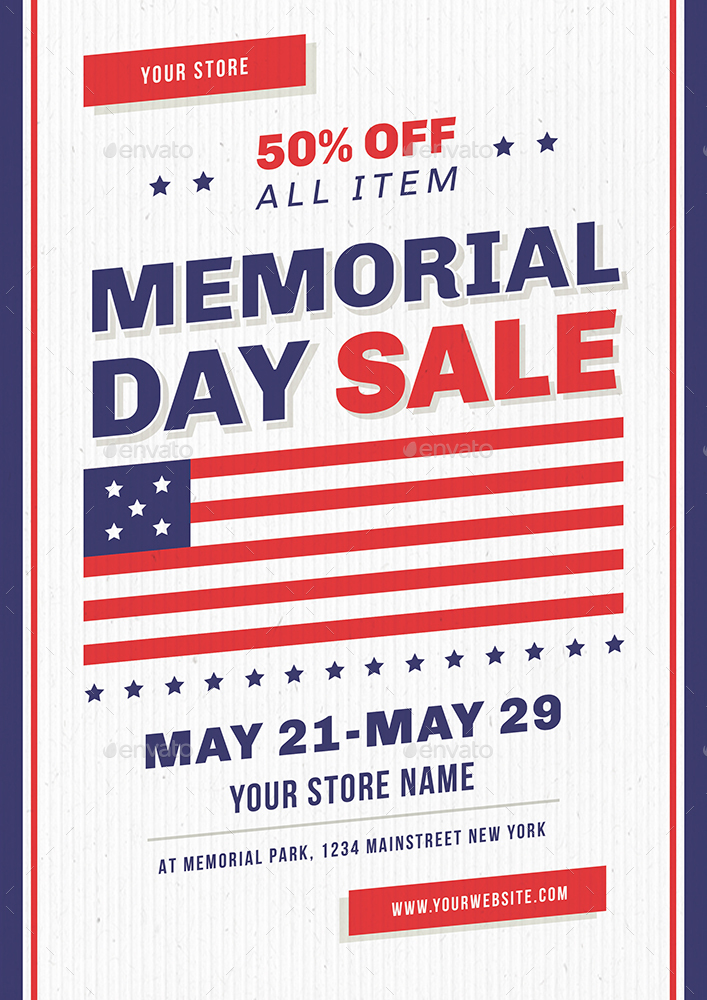 Memorial Day Flyer by vynetta | GraphicRiver