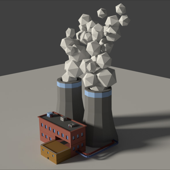 Low Poly Cartoon Factory 2 - 3DOcean Item for Sale