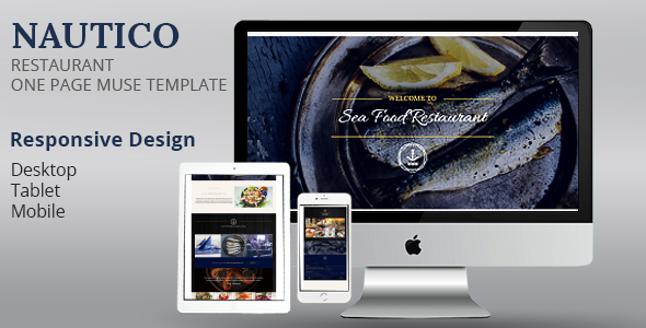 NAUTICO One Page Restaurant Muse Template