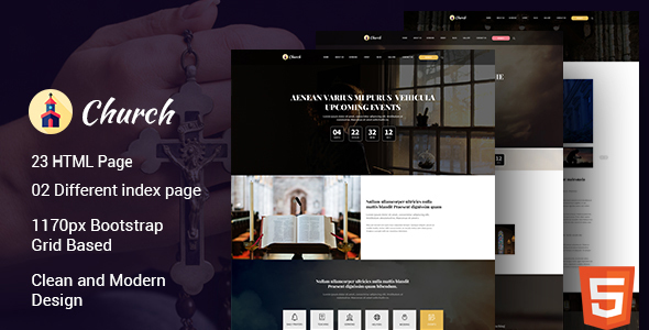 Church – HTML Template is built for church