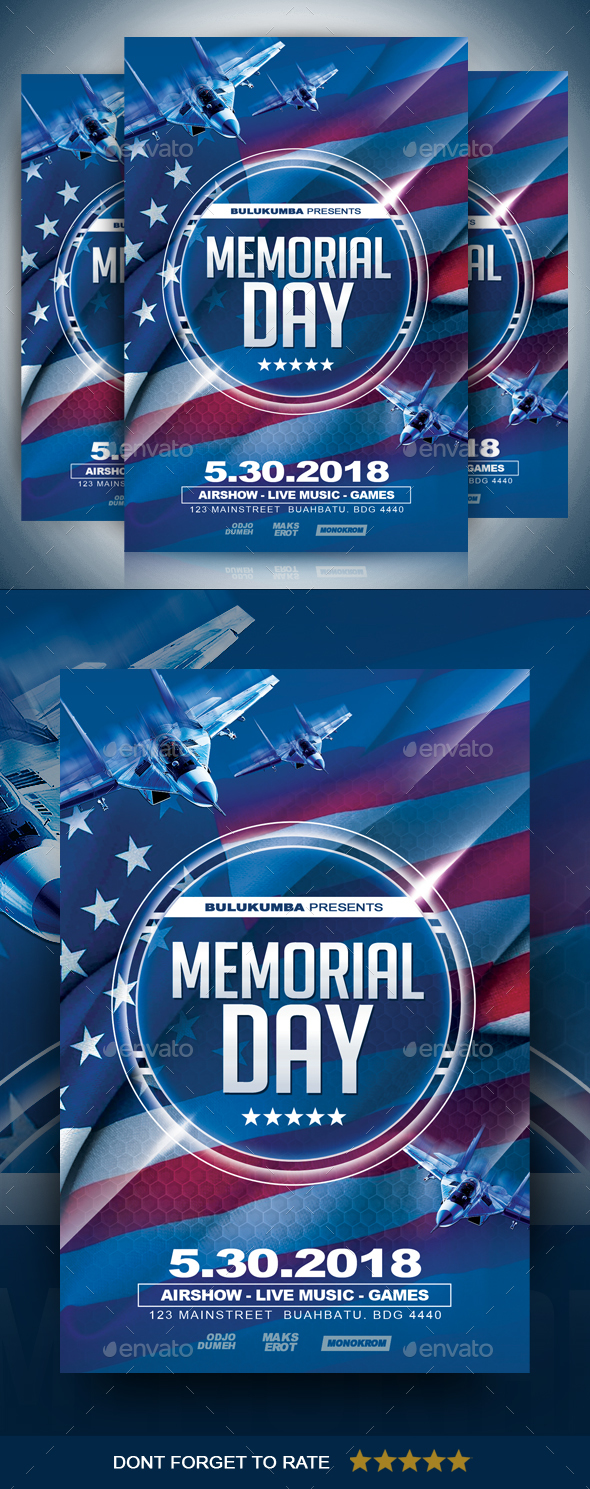 memorial day flyer by ayumadesign