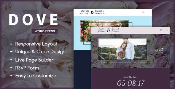 Dove – A Wedding WordPress Theme