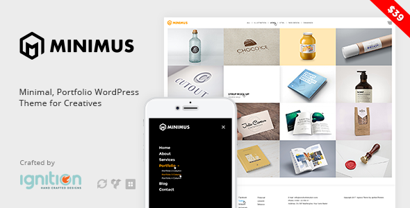 Minimus – Minimal, Portfolio WordPress Theme for Creatives