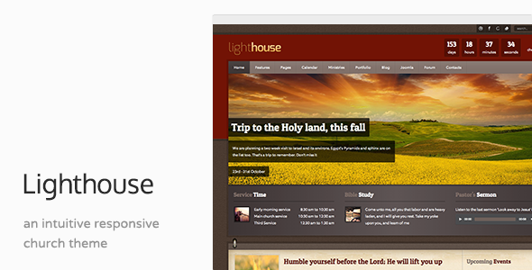 Lighthouse - Church Charity Responsive Joomla Template