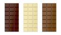 White, brown and dark chocolate bars - PhotoDune Item for Sale