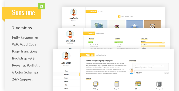 Resume/CV & vCard - Virtual Business Card Personal