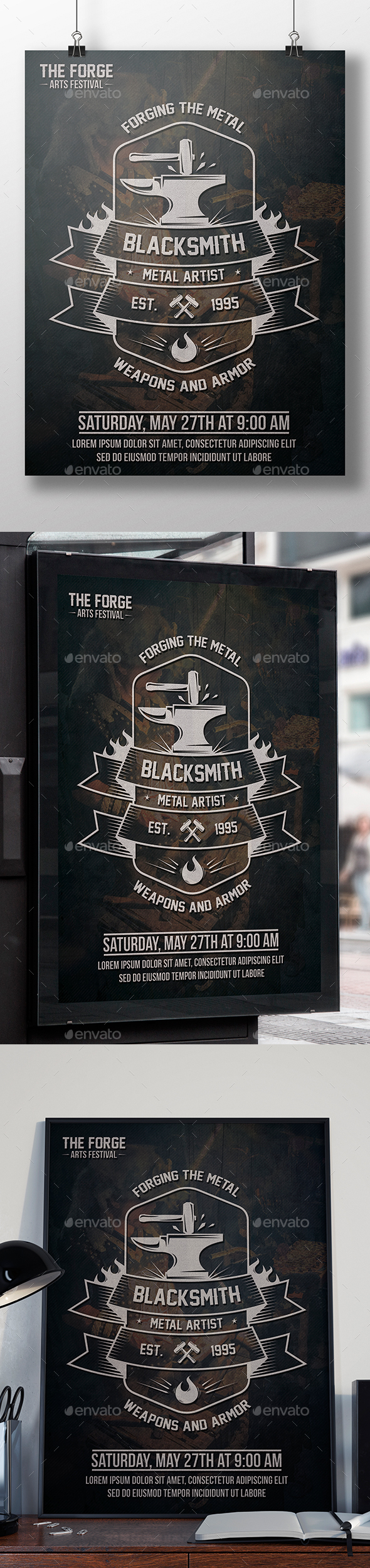 Blacksmith Flyer Template - Miscellaneous Events