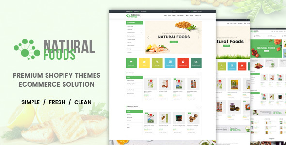 Natural Food – Responsive Drag & Drop Shopify Theme