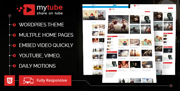 MyTube - Video WordPress Theme