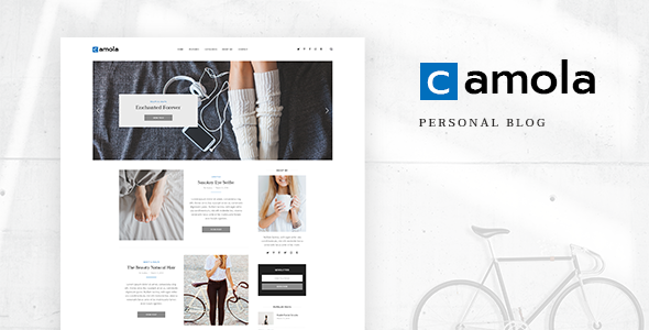 Camola – Personal Blog PSD Template focused on Blogger, Traveler, Photographer needs with PSD Files