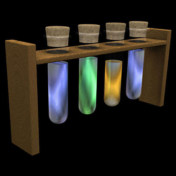 TEST TUBES - 3DOcean Item for Sale