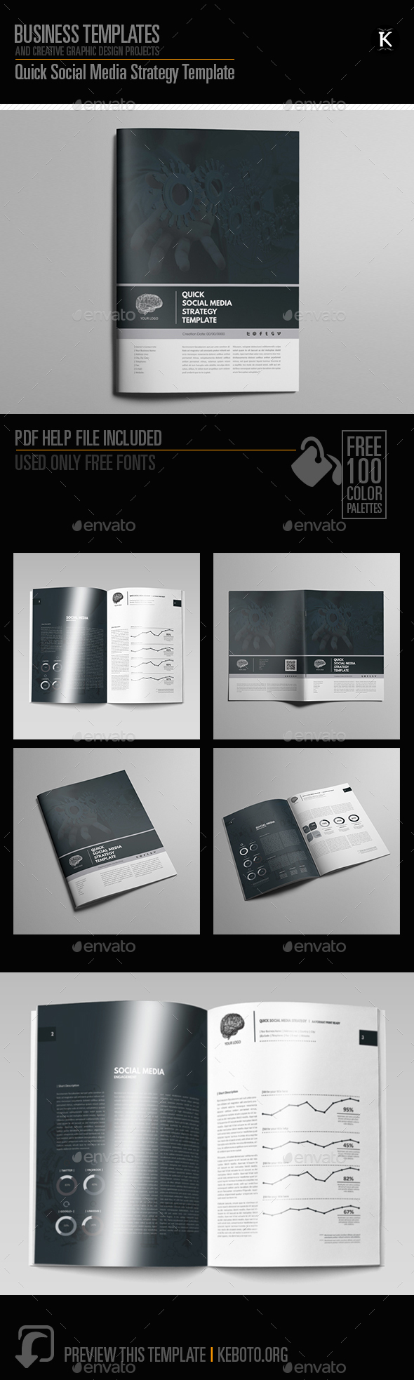 Quick Social Media Strategy Template - Miscellaneous Print Templates