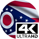 Flag 4K Ohio On Realistic Looping Animation With Highly Detailed Fabric - VideoHive Item for Sale