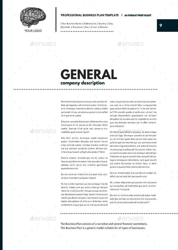 Professional Business Plan Template By Keboto GraphicRiver - General business plan template