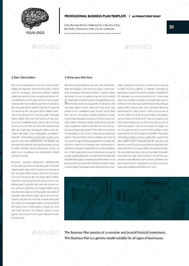 Professional business plan template by keboto graphicriver professional business plan templatepage51g cheaphphosting Images