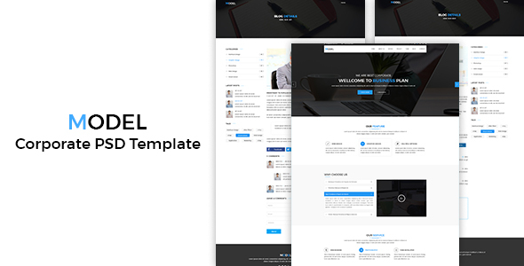 Model – Corporate  PSD Template