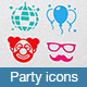 Party Icons - GraphicRiver Item for Sale