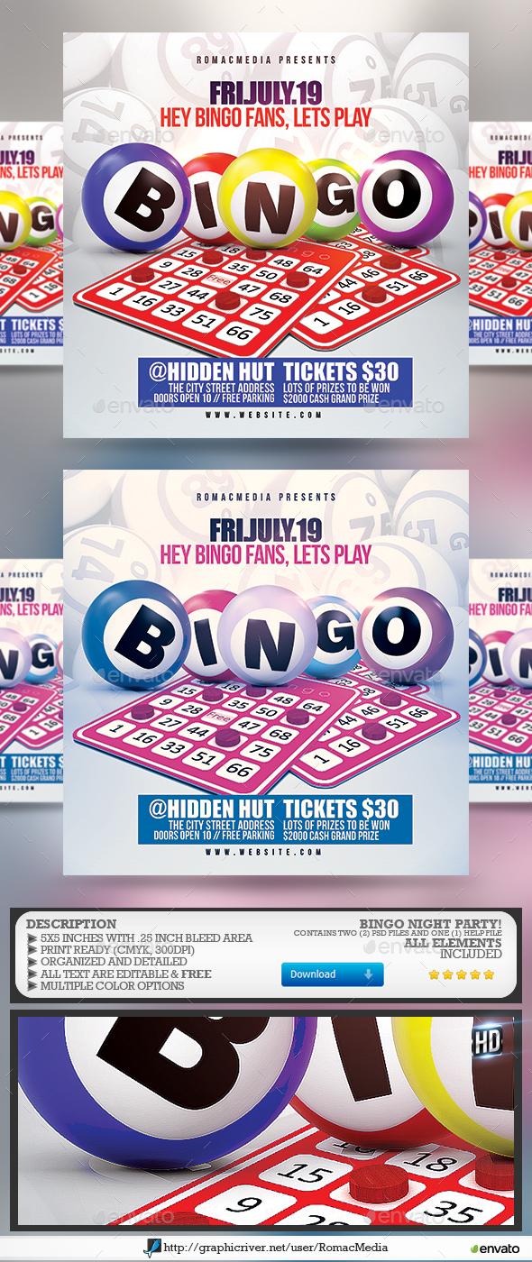 Bingo Flyer - Events Flyers