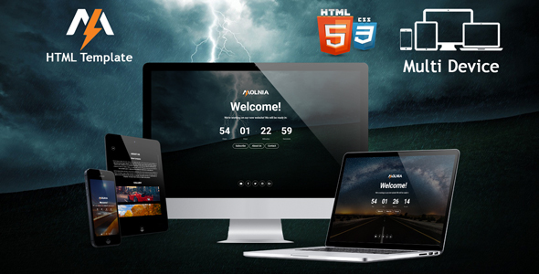 Molnia – Coming Soon HTML Template