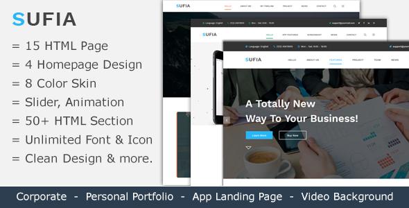 Sufia | Responsive Multipurpose HTML5 Template